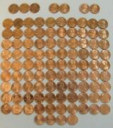 Lincoln Cent Penny Set 1975-2021 Collection 103 Coins Choice Bu Mem And Shield