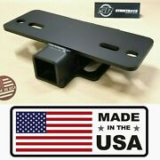 [sr] 5000lbs Step Bumper Mount Mounting 2 Hitch Receiver Rv Trailer Truck Usa