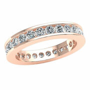 Natural 1.80ct Classic Channel Set Stackable Eternity Band Ring Diamond 10k Gold