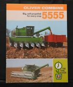 1969 The Oliver 5555 Self-propelled Combine Sales Catalog Brochure Very Nice