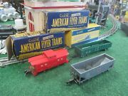 American Flyer 630 631 632 Freight Car Set With Original Boxes C8 L/n Condition