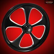 Ftd Customs Fat Front Wheel And Tire Kit 5-blade 180mm Fat Front Tire 00-13
