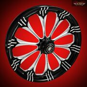 Ftd Customs Fat Front Wheel And Tire Kit Warlock 180mm Fat Front Tire And Wheel