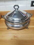 Epca Silverplate By Poole Casserole Dish With Pyrex Insert