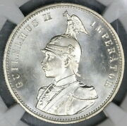1890 Ngc Ms 66 German East Africa Rupie Mint State Silver Coin 19061801d