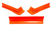 Air Valance - Md3 - 3 Piece - Molded Plastic - Fluorescent Red - Modified - Kit
