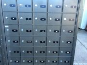 Eight Commercial Usps Backloading Keyed Mailboxes And One Letterbox