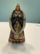Jim Shore Heartwood Creek Angel W Wings Around Holy Family Ornament Box Mint