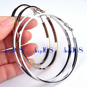18k White/gold Filled Korean Womenand039s Large Ear Hoop Earrings Jewelry H2qh2r