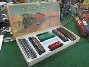 Marx Ho Scale 99 Rock Island Diesel Train Incomplete Set With Orig Box Exc Cond