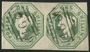 Sg55 1/- Green A Most Appealing Pair With Gorgeous Liverpool 466 Carefully