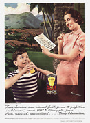 Vintage Print Ad 1938 Double Sided Dole Pineapple Juice And Coca Cola