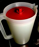 Tupperware New Vintage 1 Gal Pitcher With Red Push Button Seal