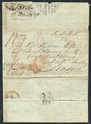 1838 Portsmouth Ship Letter Montreal-london Via New York Endorsed And039single Sheetand039
