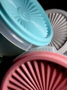 Tupperware New Usa Vintage Small Nesting Bowls With Pleated One Touch Seals 886