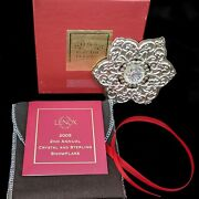 Lenox China 2005 Sterling Silver And Crystal Snowflake Ornament 2nd In Series Mib