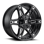 4 20x9 Fuel Black And Milled Daker Wheels 5x114.3 And 5x127 For Jeep Toyota Gm