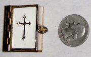 Mini Vintage 1 1/4 X 1 1/4 Holy Bible Old And New Testiment Standard Version