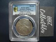 Pcgs Gold Shield Germany Empire 1913 Battle Of Leipzig Silvered Medal Sp61