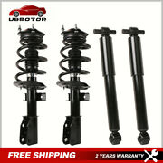 Front+rear Shocks Struts Absorbers For 09-12 Chevy Traverse 07-12 Gmc Acadia