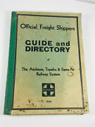 1932 Santa Fe Atchinson Topeka Railroad Freight Shippers Guide Directory Wow