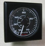 Faria Competition Square Style Boat Gauge Speedometer 70 Knots Se9686