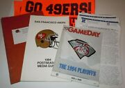 San Francisco 49ers Media Guide 1993 1994 Playoffs Nfc Championship Sign Young