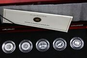 2012 Rcm, Farewell To The Penny, 5 Coin Silver Proof Set