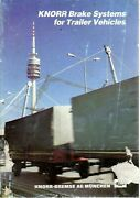 Knorr Brake Systems For Trailer Vehicles Catalogue 1989 7345e