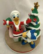 Disney 84 Collectable 6.5 Celebrating Donald's 50th Bd With Daisy Duck Figurine