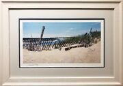 David Sipple Cape May Point Signed And Framed Art Jersey Shore Lighthouse