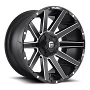 4 22x12 Fuel Matte Black And Mill Contra Wheel 5x114.3 5x127 For Jeep Toyota Gm
