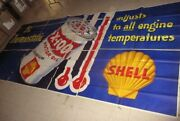 1950and039s Shell X-100 Motor Oil 9 Foot X 20 Foot Billboard Poster Sign - Awesome