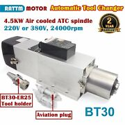 4.5kw 220v Or 380v Bt30 Automatic Tool Change Atc Air Cooled Spindle Motor 800hz