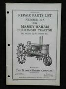 1950 Massey-harris Challenger Tractor Parts Catalog Manual Very Nice Shape