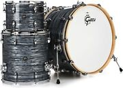 Gretsch Drums Renown 3-piece Rock Shell Pack With 24 Kick - Silver Oyster Pearl