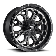 4 22x12 Fuel Black W/ Tint Crush Wheels 5x139.7 And 5x150 For Jeep Toyota Gm
