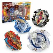 4pcs/set Spin Top Stadium Arena 168-1 Spin Tops Metal 4d Fusion With Launcher