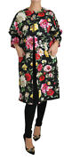 Dolce And Gabbana Jacket Coat Black Floral Crystal Jacquard It36 /us2/xs Rrp 3000
