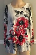 Alfred Dunner Sutton Place 2018 Multi Color Sweater Size Xl Nwt