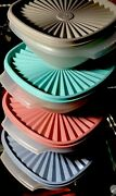 Tupperware New Usa Vintage Servalier Bowl Set With Pleated Seals A Classic