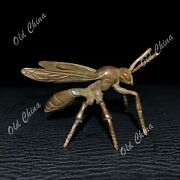 Chinese Old Collectible Antique Solid Copper Handwork Bumblebee Ornament Statue
