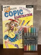 Copic Official 12 Color Pen English Text Guide Book Set Illustration Anime Manga