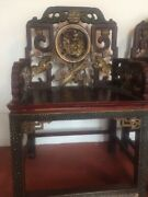 Beautiful Antique Pair Chinese Emperor Chairs