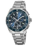 New Tag Heuer Aquaracer 300m Chronograph Blue Dial Menand039s Watch Cay111b.ba0927