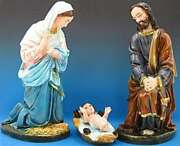 Outdoor Nativity Set Removable Jesus Indestructible Poly Statues Set Of 4 Color