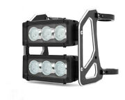Motorcycle Headlight Led Light Bar Dual Stacked Streetfighter - 52-53mm Forks