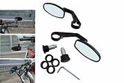 Bar End Mirrors Fits Suzuki Cafe Racer Project Quality Black Cnc Machined - Pair