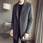 2020 Spring Coats Mens Vintage Striped Steampunk Clothing Classic Stripe Coat
