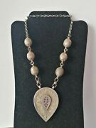 Unusual Old Antique Sterling Silver Bedouin Necklace Handmade Jewelry